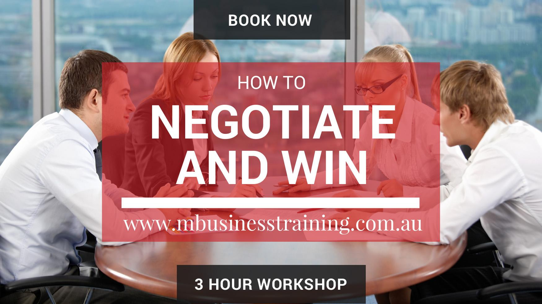 Negotiate and Win with M Business