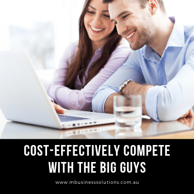 by owning a website it lets you compete with the big guys cost-effectively