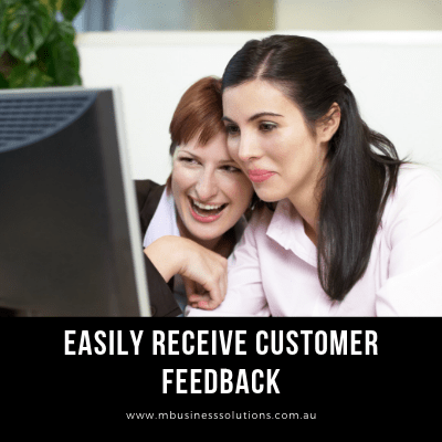 allows you easily receive customer feedback by owning a website