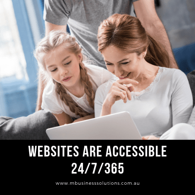 enhances customer satisfaction by owning a website