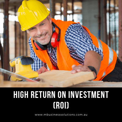 high return on investment when you own a website