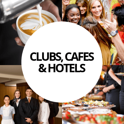 clubs cafes hotels industry web design portfolio