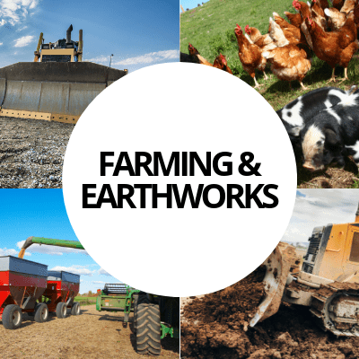 farming earthworks industry web design portfolio