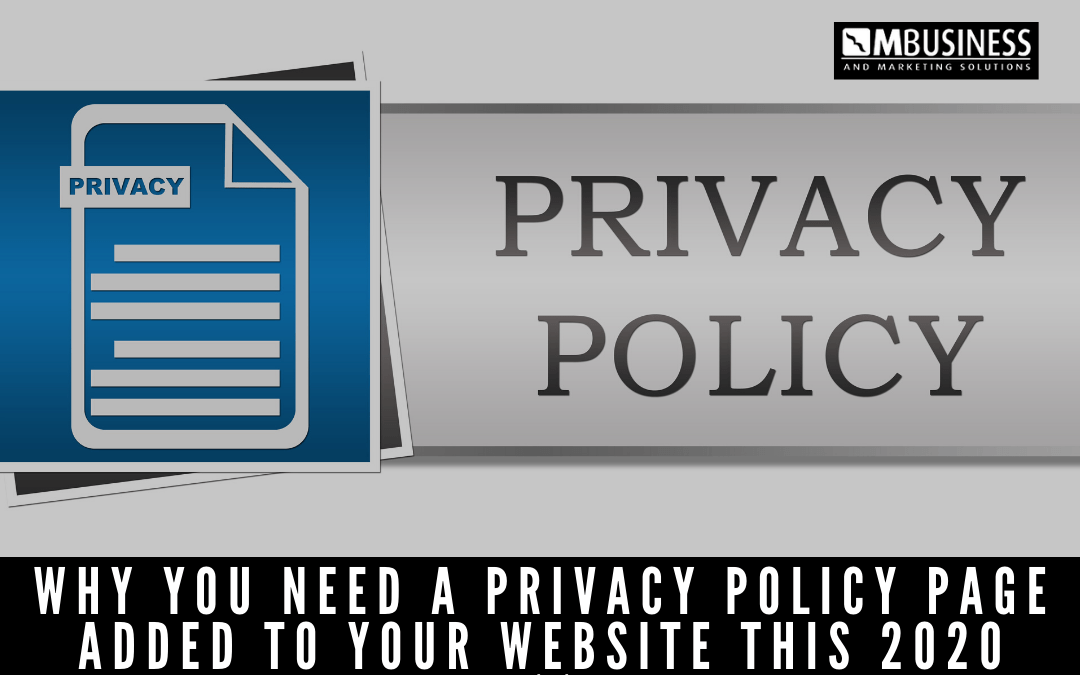 Why you need a privacy policy page added to your website this 2020